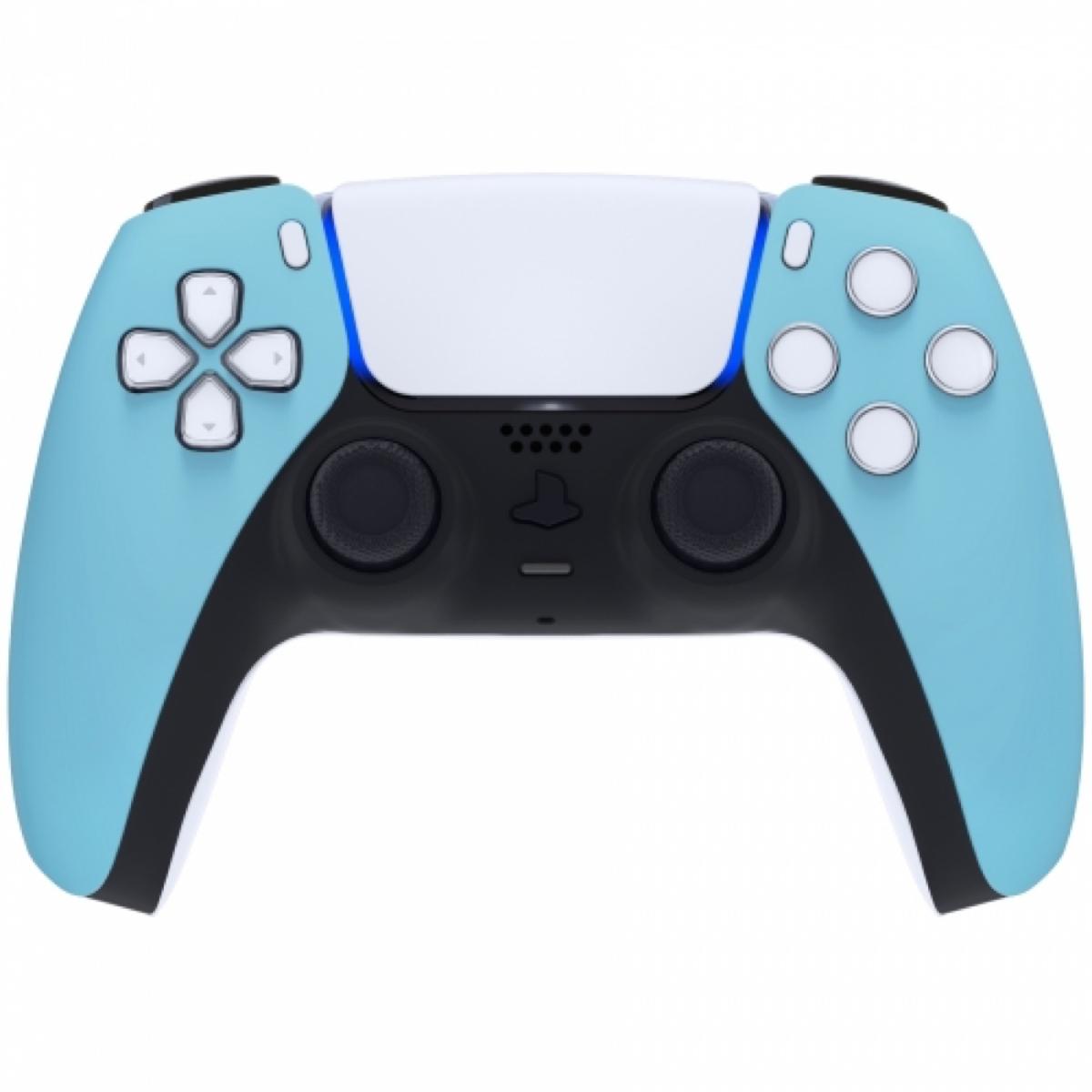 Consoleskins Sony PS5 DualSense Draadloze Controller - Hemelsblauw Soft Touch Front Custom