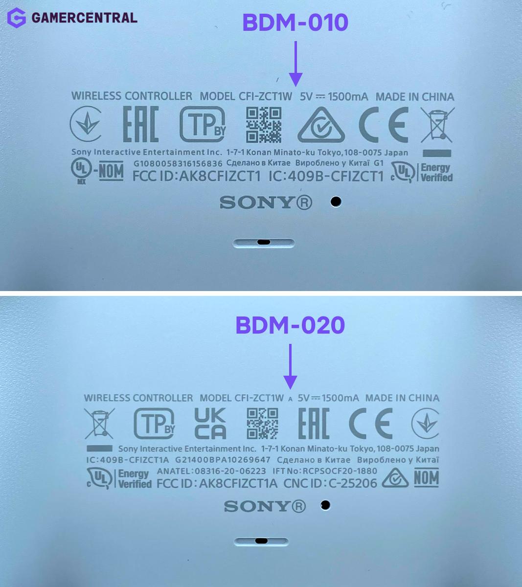Welke generatie PS5 controller heb ik?