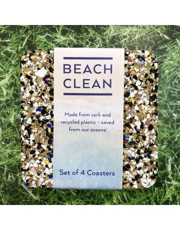 Liga Beach Clean Square Coaster Set
