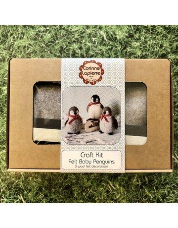 Corinne Lapierre Three Baby Penguins Felt Kit