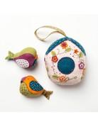 Corinne Lapierre Decorative Birdhouse with Birds Felt Kit