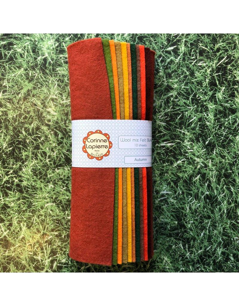 Corinne Lapierre 10 Autumn Colours Felt Sheets