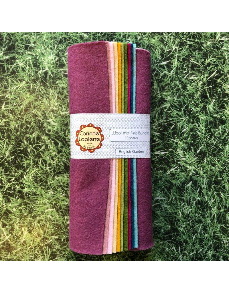Corinne Lapierre 10 English Garden Felt Sheets