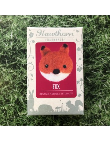 Hawthorn Handmade Needle Felt Fox Brooch Kit