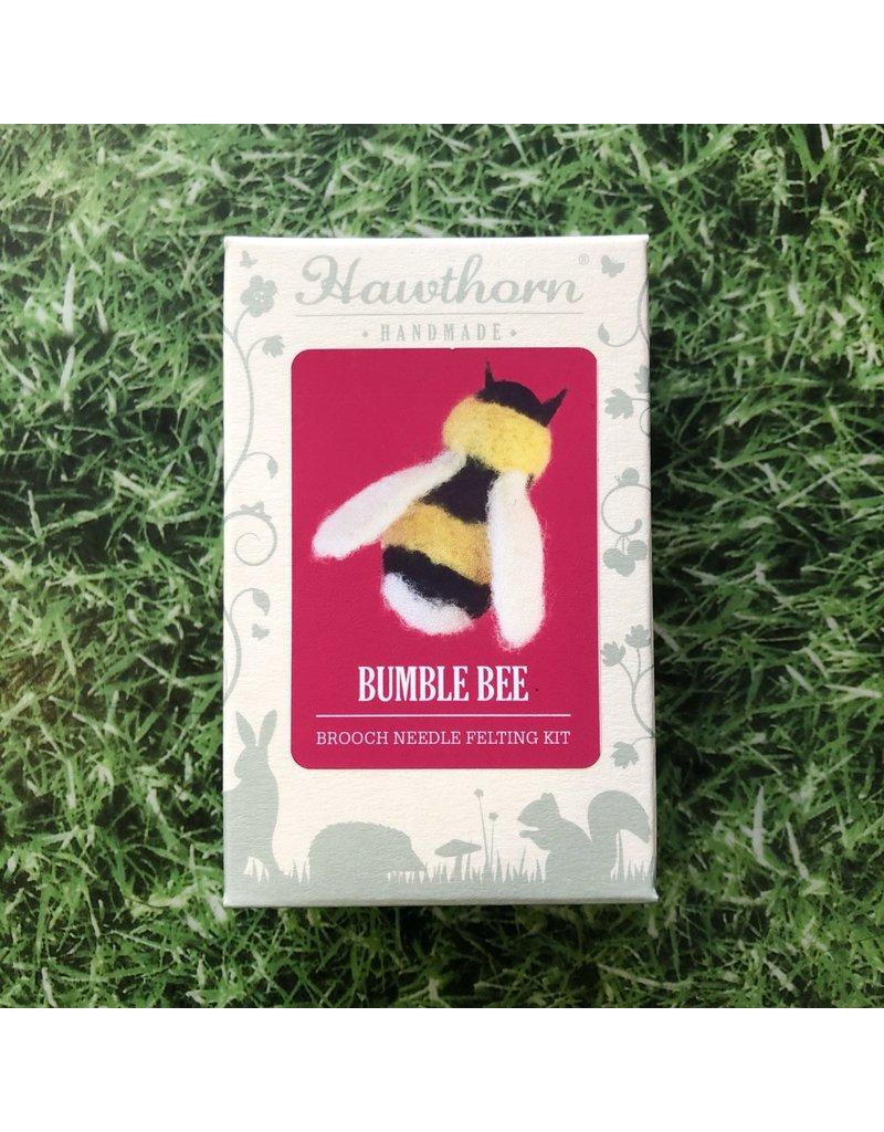 Hawthorn Handmade Needle Felt Bee Brooch Kit