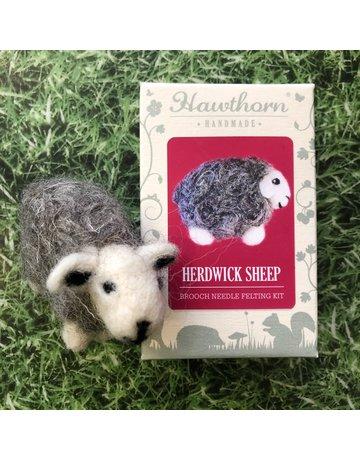 Hawthorn Handmade Needle Felt Herdwick Brooch Kit