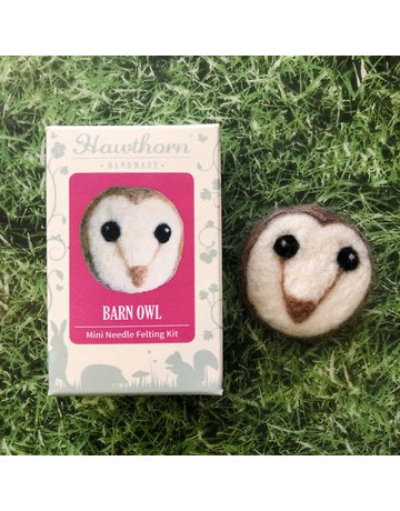 Hawthorn Handmade Needle Felt Owl Brooch Kit