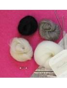 Hawthorn Handmade Needle Felt Owl Brooch Kit