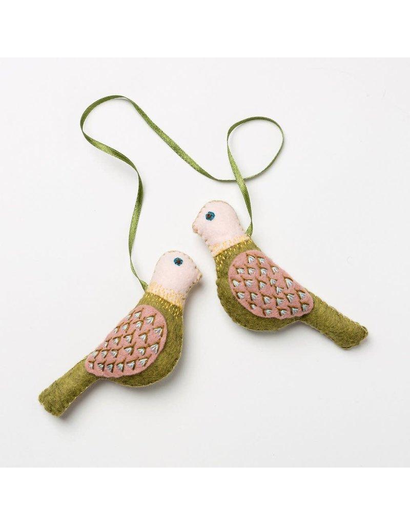 Corinne Lapierre Love Birds Embroidery and Felt Kit