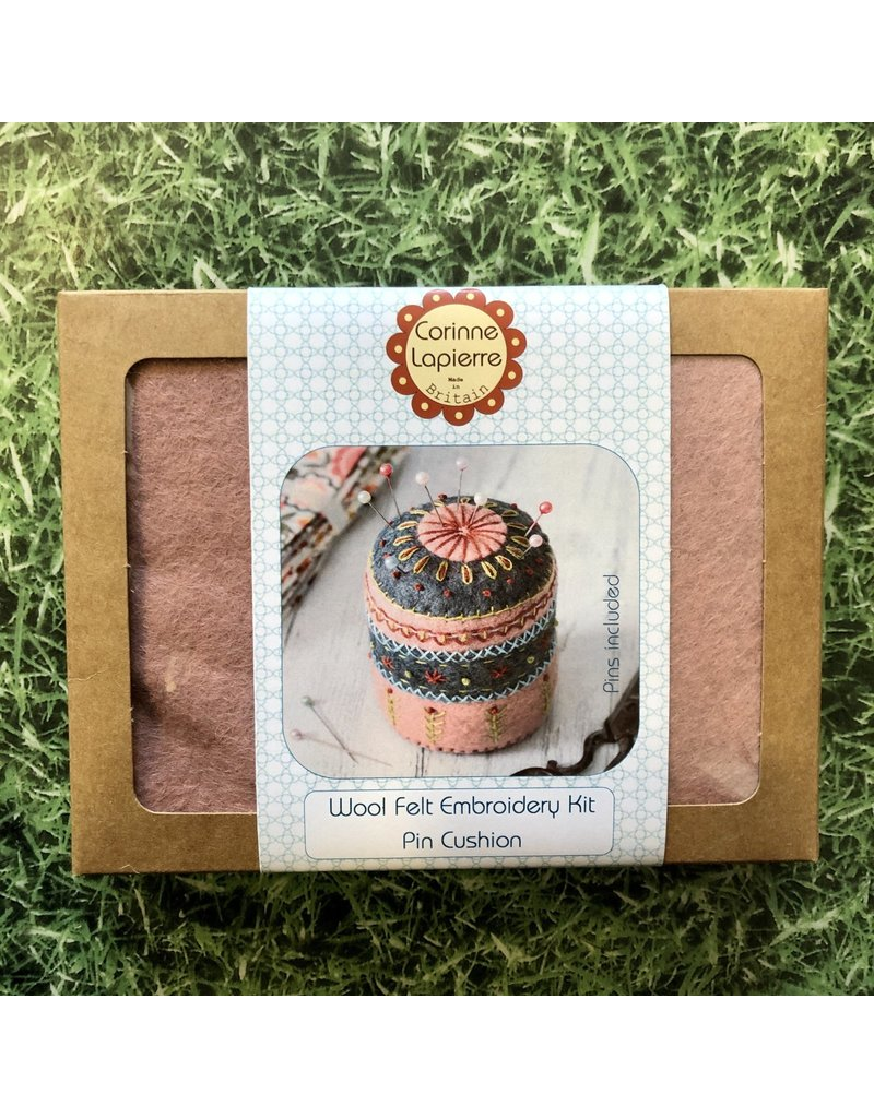 Corinne Lapierre Pin Cushion Embroidery and Felt Kit