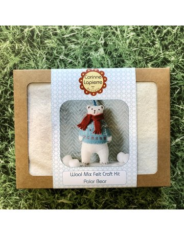 Corinne Lapierre Mini Polar Bear Felt Kit