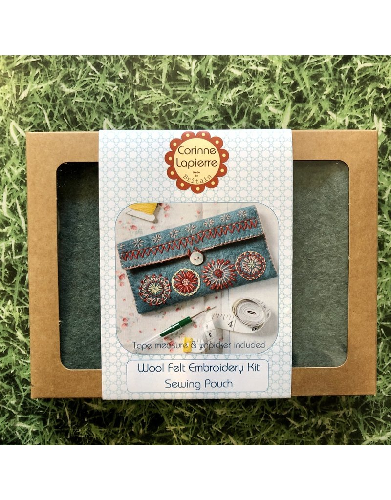 Corinne Lapierre Sewing Pouch Embroidery and Felt Kit