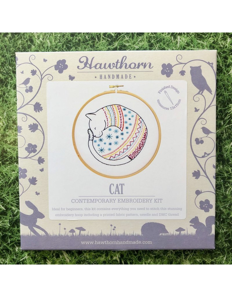 Hawthorn Handmade Embroidery Kit Cat