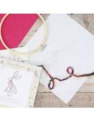 Hawthorn Handmade Embroidery Kit Hare
