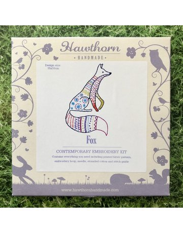 Hawthorn Handmade Embroidery Kit Fox