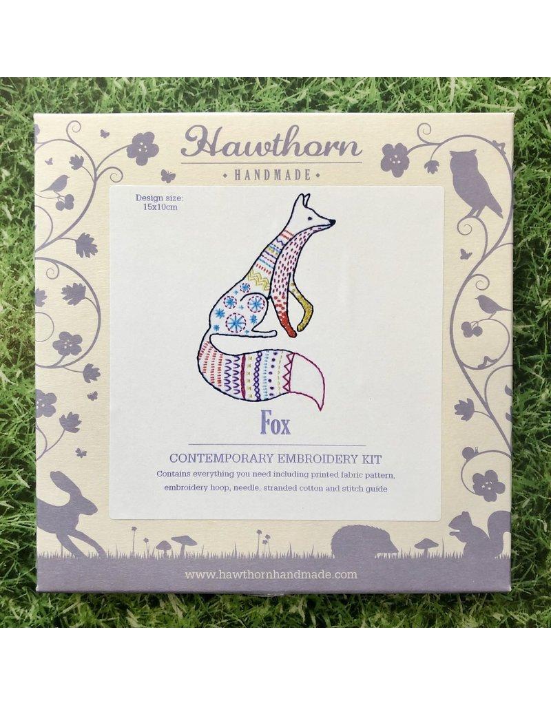 Hawthorn Handmade Embroidery Kit Fox