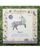 Hawthorn Handmade Embroidery Kit Unicorn