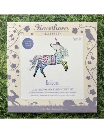 Hawthorn Handmade Embroidery Kit Unicorn