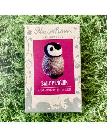 Hawthorn Handmade Needle Felt Penguin Brooch Kit
