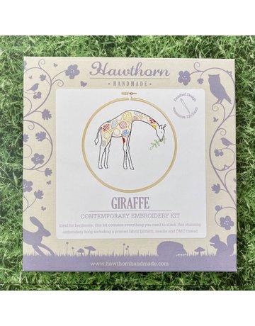 Hawthorn Handmade Embroidery Kit Giraffe
