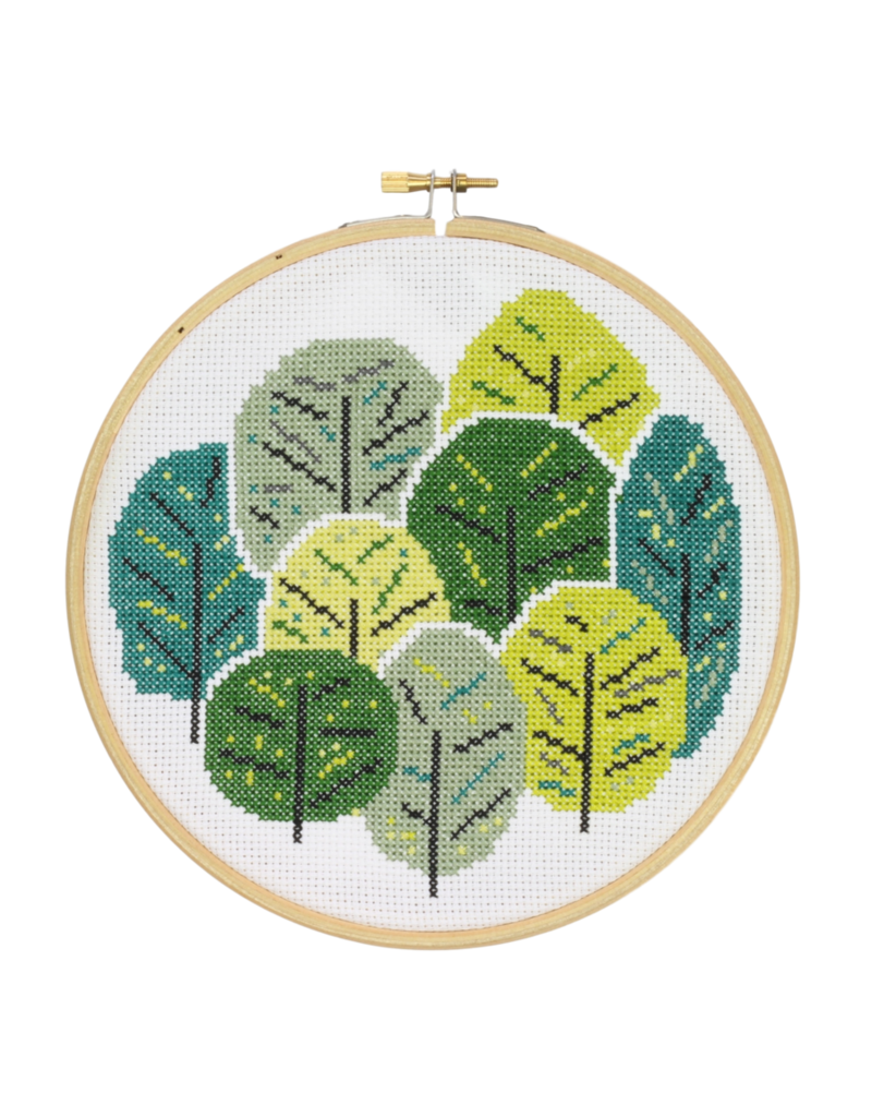 Hawthorn Handmade Cross Stitch Summer Trees