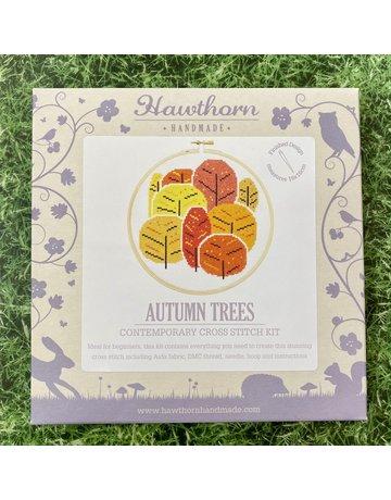 Hawthorn Handmade Cross Stitch Autumn Trees
