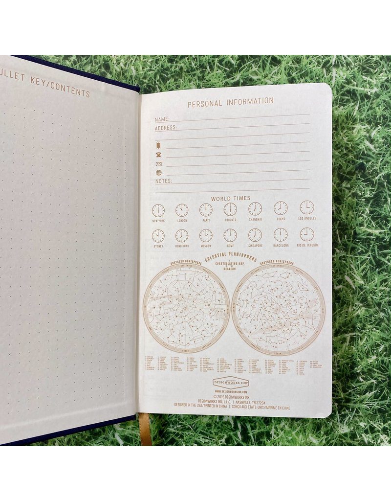 Eclectic Life Moon Phases Blue Cloth Notebook