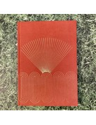 Eclectic Life Radiant Rays Orange Suede Notebook