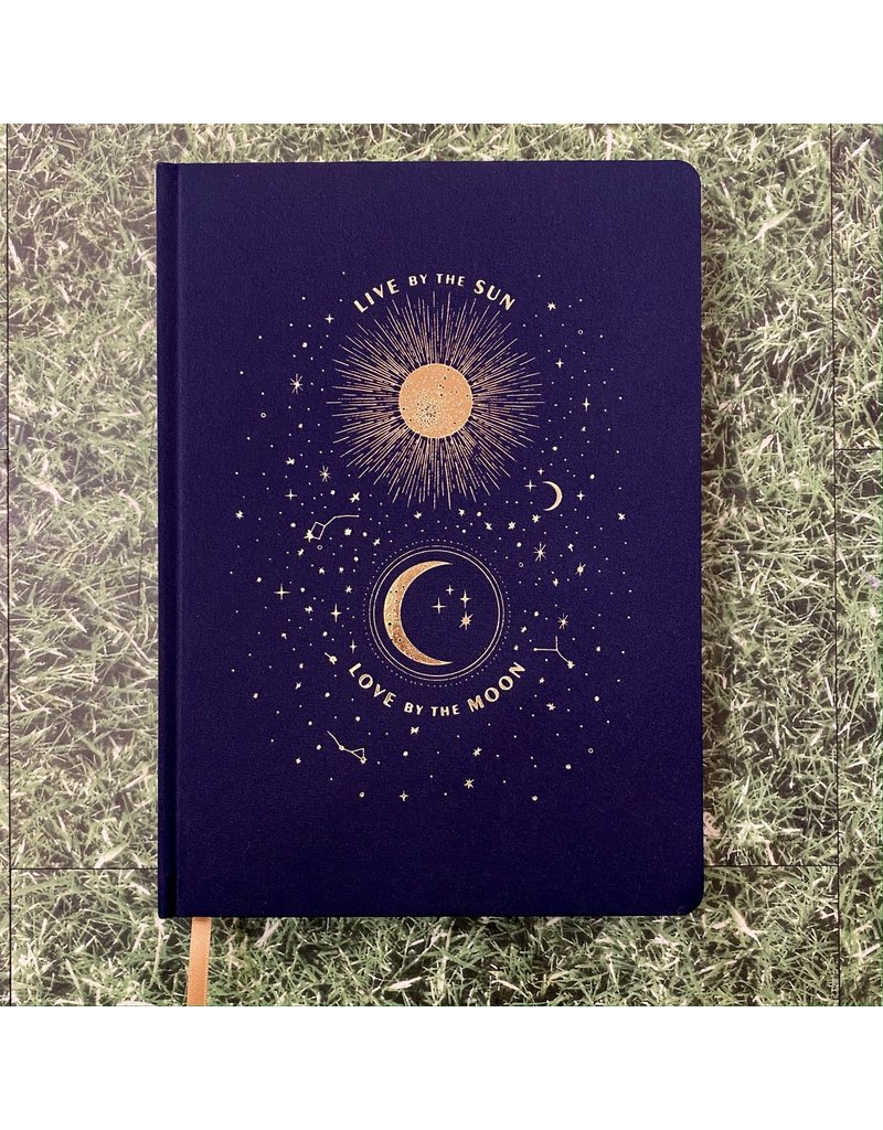 Eclectic Life Live By The Sun Cloth Notebook A4