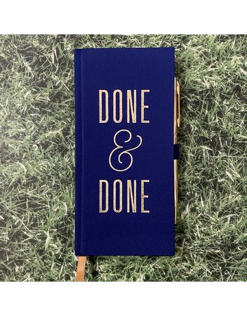 Eclectic Life Done & Done Notebook And Pen