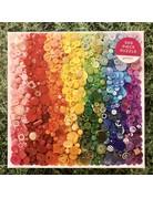 Galison 500 piece Rainbow Buttons Puzzle