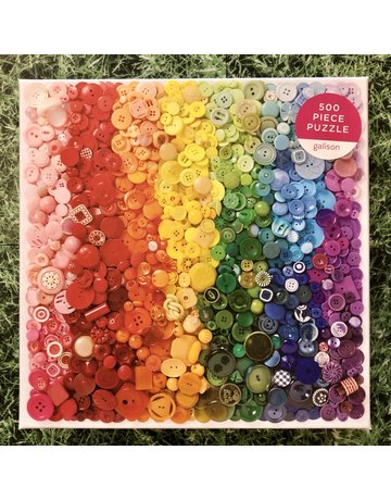 Galison 500 piece Rainbow Buttons Puzzle