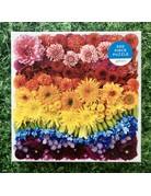 Galison 500 piece Rainbow Flowers Puzzle