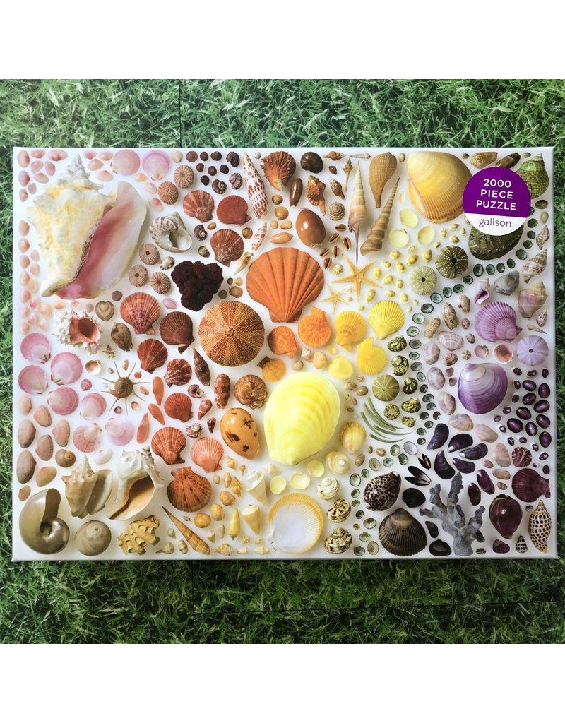 Galison 2000 Piece Rainbow Shell Puzzle