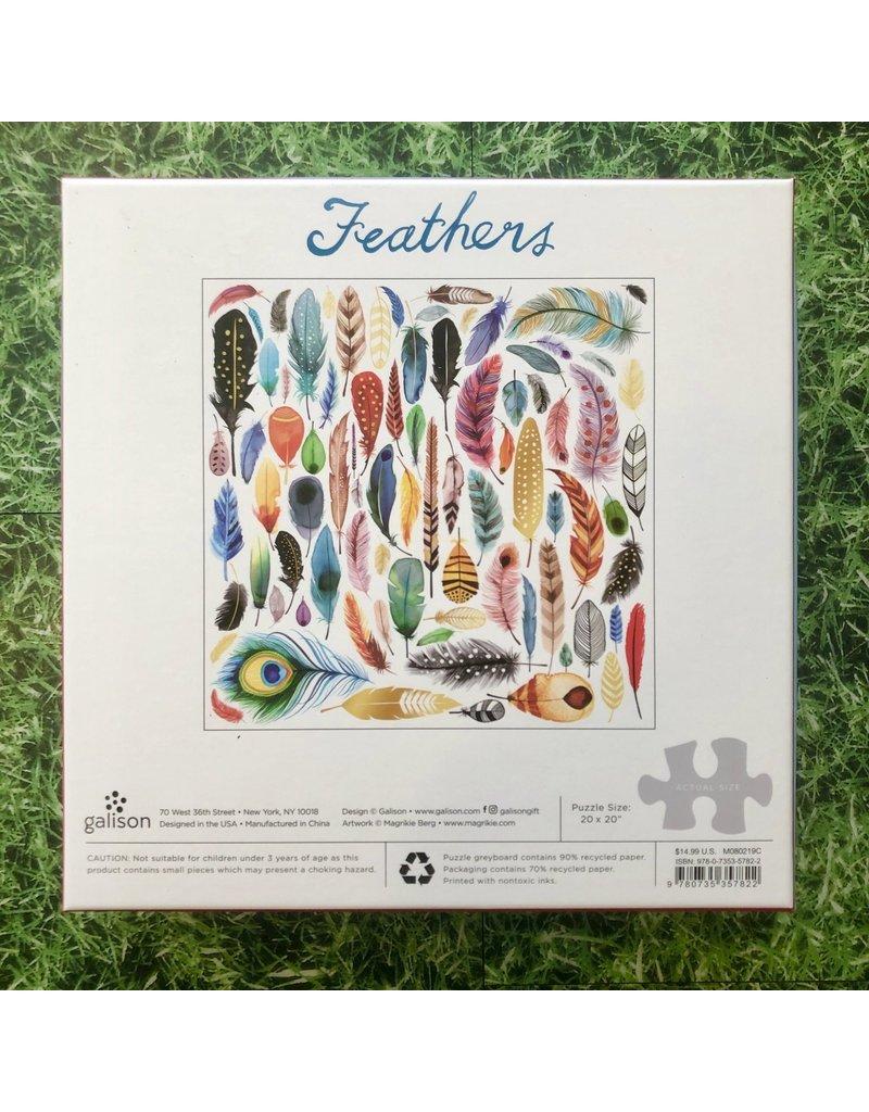 Galison 500 Piece Foil Feathers Puzzle