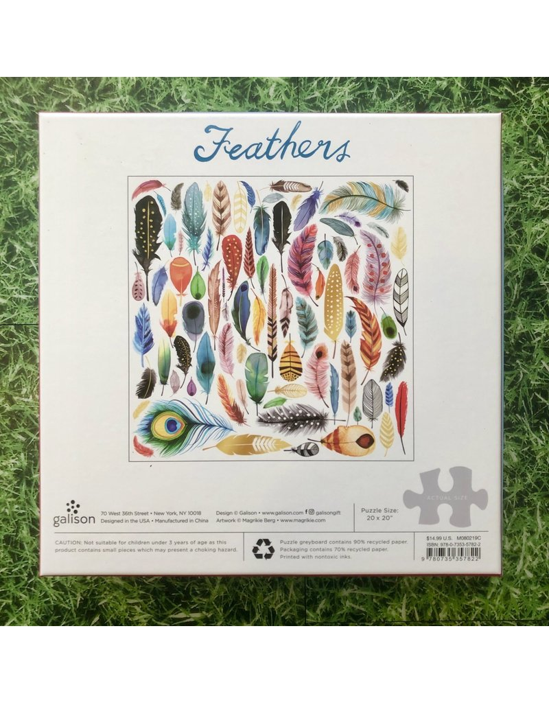 Galison 500 Piece Puzzle Foil Feathers
