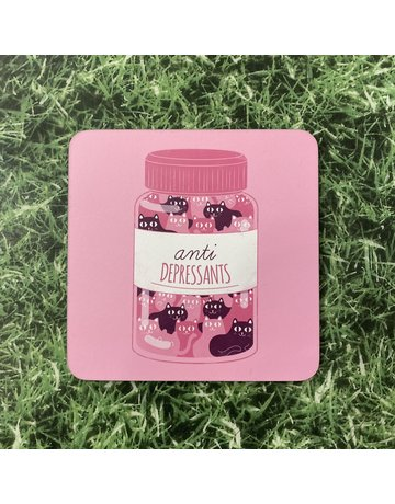 UStudio Cat Anti Depressants Coaster