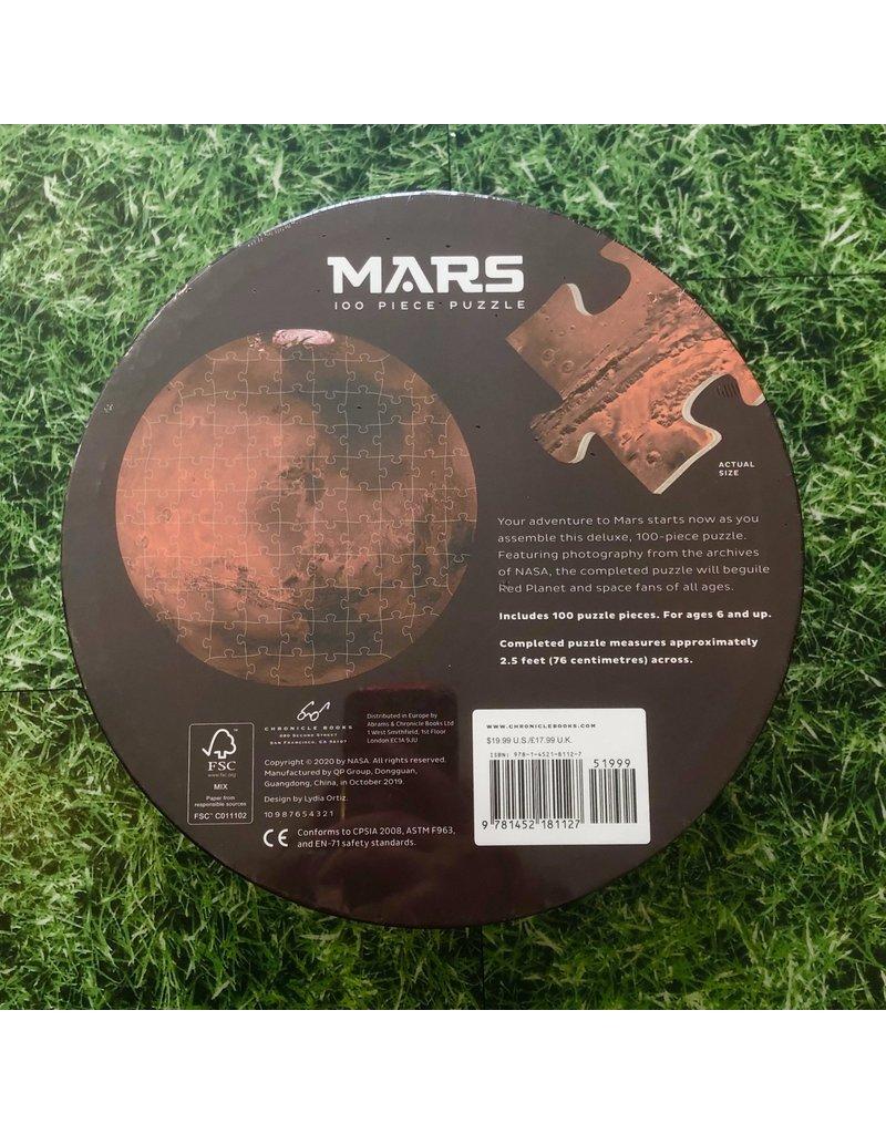 Galison 100 Piece Mars Shaped Puzzle