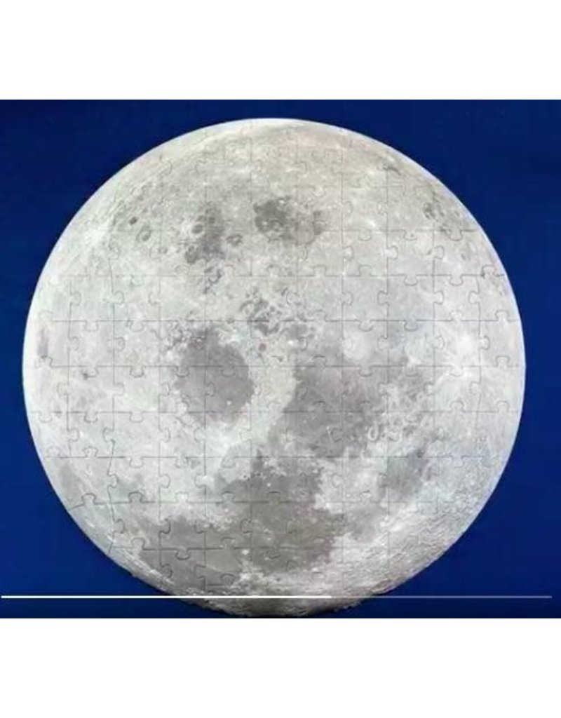 Galison 100 Piece Moon Shaped Puzzle