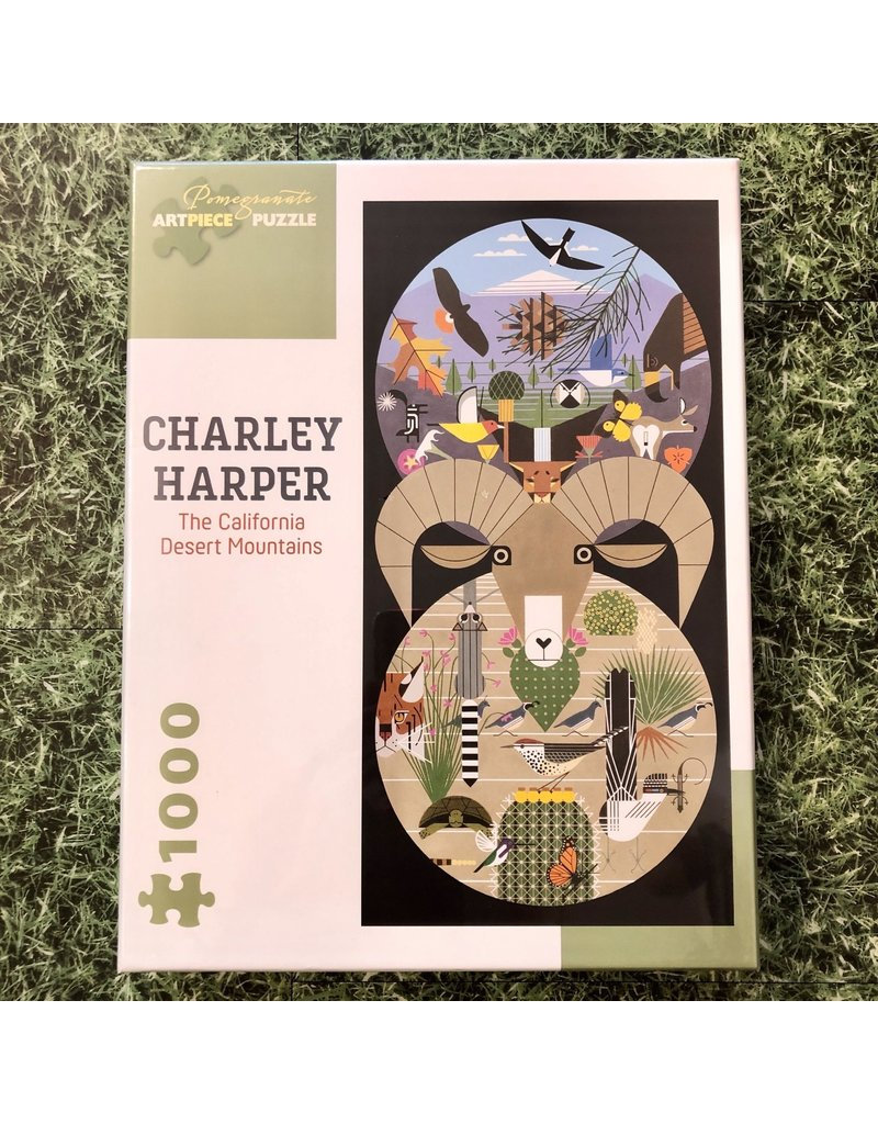 Pomegranate 1000 Piece Puzzle Charley Harper Desert Mountains
