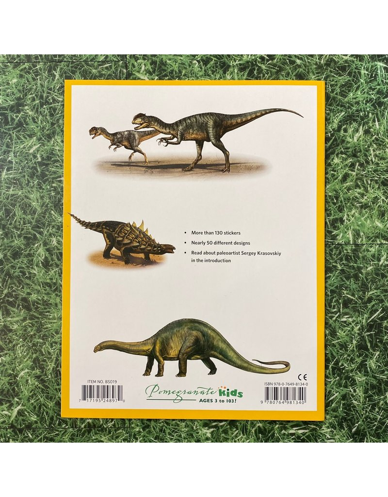 Pomegranate Dinosaur Sticker Book