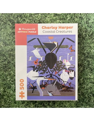Pomegranate Charley Harper Coastal Creatures 500 Piece Puzzle