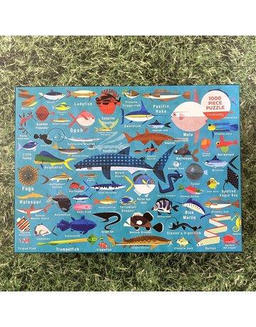 Galison 1000 Piece Puzzle Ocean Life