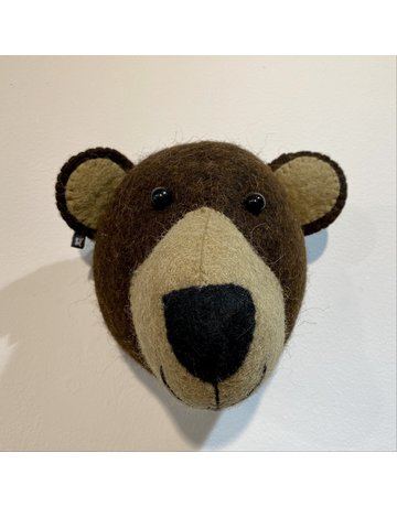 Fiona Walker Mini Brown Bear Felt Head