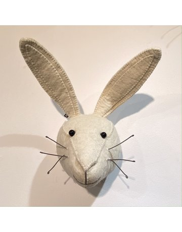 Fiona Walker Mini White Hare Felt Head