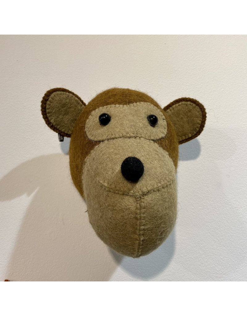 Fiona Walker Mini Monkey Felt Head