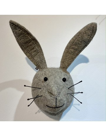 Fiona Walker Mini Grey Hare Felt Head