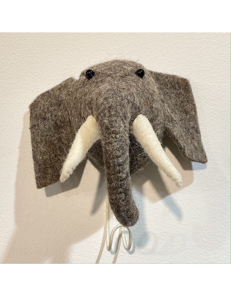 Fiona Walker Wall Hook Felt Elephant