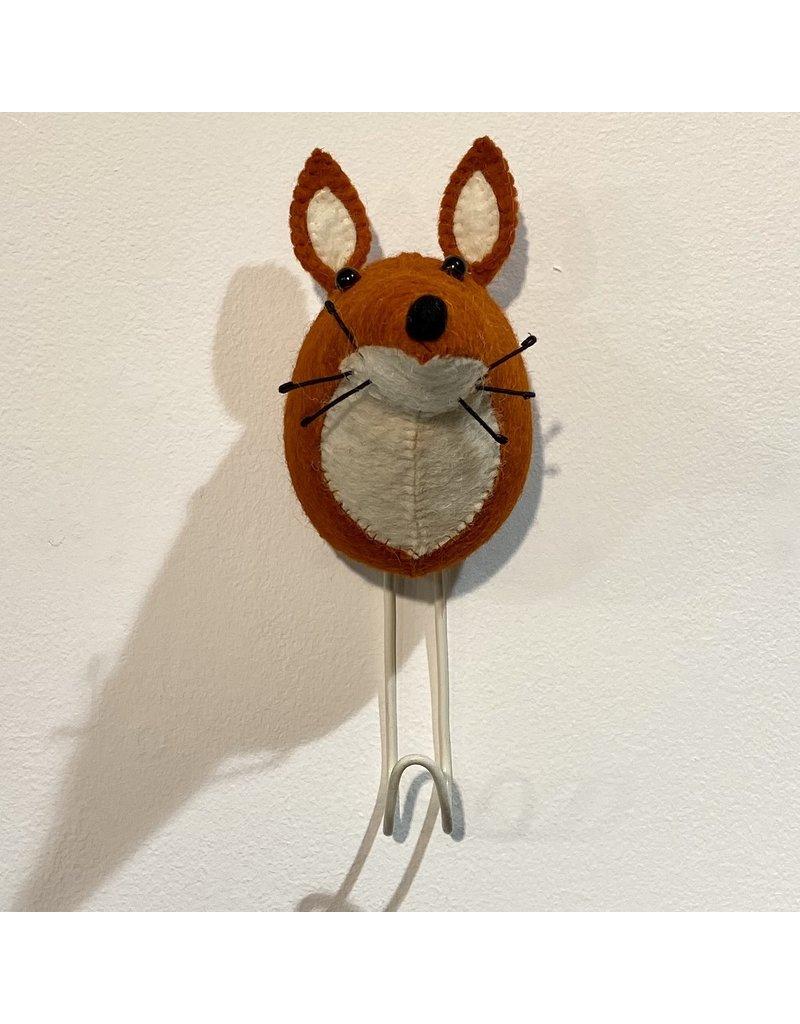 Fiona Walker Wall Hook Felt Fox