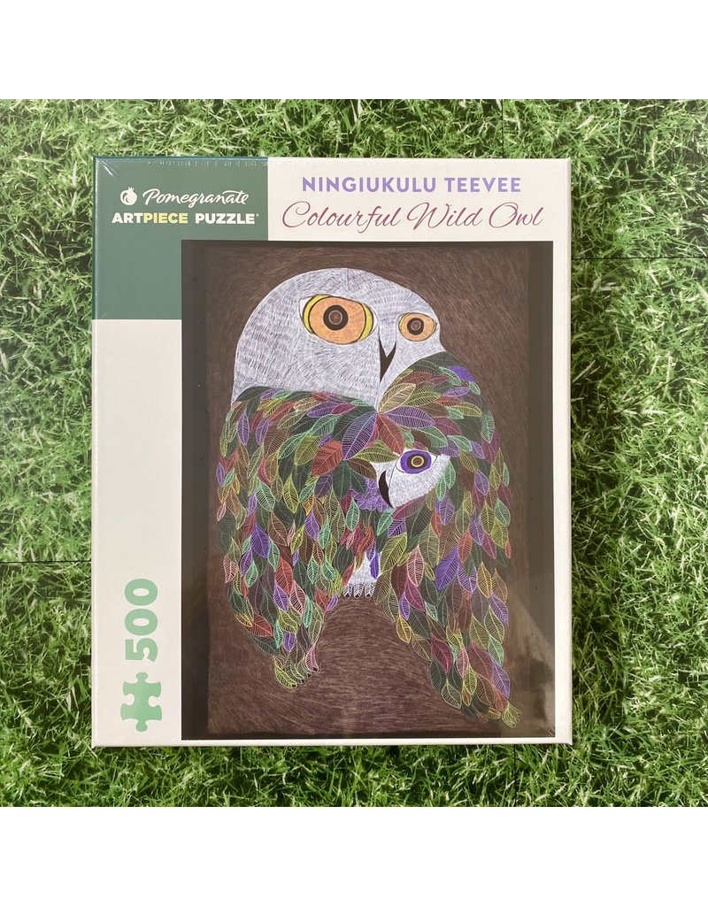Pomegranate 500 Piece Puzzle Colourful Wild Owl